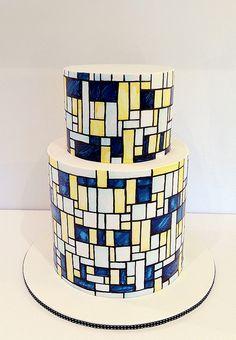 Mondrian inspired cake