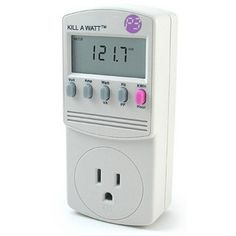 Kill A Watt... on sale... measures wattage for  electric items