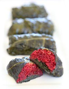 Quinoa & Beet Kale Dolmades - Rabbit Food For My Bunny Teeth