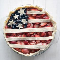 A sweet, tart, and delicious berry pie with a little bit of Patriotism.