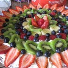 Fruit Pizza II http://allrecipes.com/Cook/15269385/Photo.aspx?photoID=943057