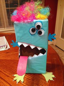 Monster Valentine's Day Box Craft from www.daniellesplace.com made by Brittany Bradley