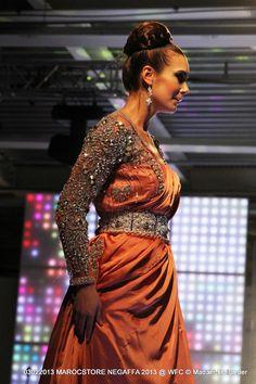 #Moroccan #kaftan #caftan #orange