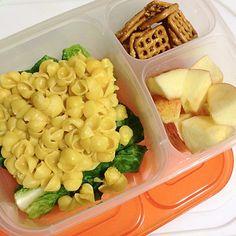 organic mac & cheese + apples + pretzels | via witworm - instagram