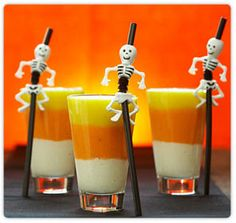 candy corn kids smoothie- healthy and fun!