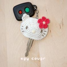 Hello Kitty Key Cover Crochet Pattern