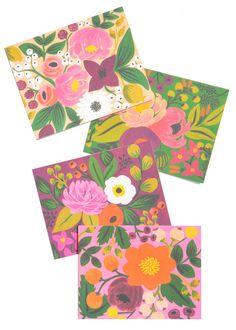 vintage blossoms card set / $18