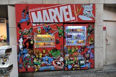 Marvel soft drink vending machine, Ueno/Ameyokocho