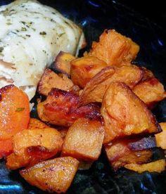 Coconut Oil Roasted Sweet Potatoes