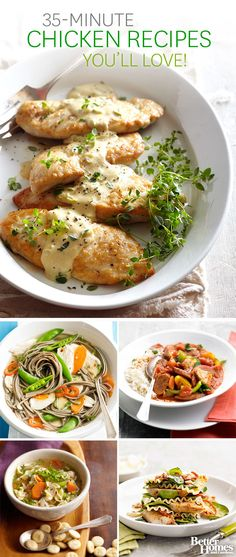 Don't worry about dinner tonight! We can help with these quick and easy chicken reicpes for the whole family: http://www.bhg.com/recipes/chicken/30-minutes-less/quick-easy-chicken-dinner-recipes/?socsrc=bhgpin100413quickeasychickenrecipes