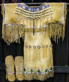 Buckskin Dress ~ beautiful!