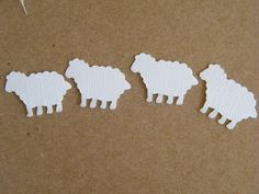 Etsy Shop: MorellDecor.  200 Confetti White Counting Sheep / Little Lamb Table Decoration - Scrapbooking - Ephemera - Embellishment- Baby Shower Confetti. $4.99, via Etsy.