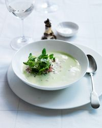 Fresh Pea Soup with Ham Recipe