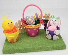 easter clay pots