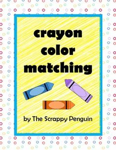 Crayon Color Matching File Folder Game