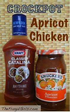 Crockpot Apricot Chicken Recipe! via TheFrugalGirls.com #crockpot #recipes