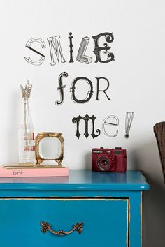 Hand-Drawn Letter Wall Decal  #UrbanOutfitters