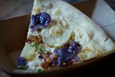 Baked Potato Pizza at PeteZaaz (New York, NY). #UniqueEats #pizza