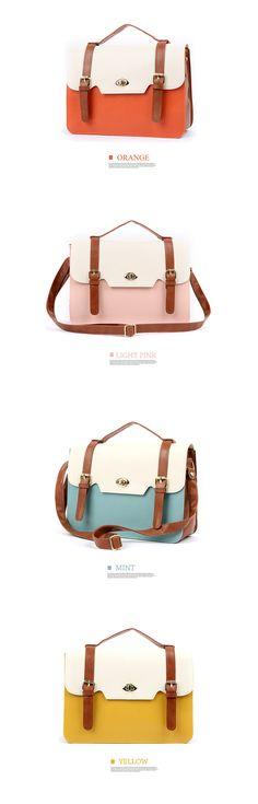 New Women Girl Korea Style Square Handbag Cross Body Shoulder Satchel Bags