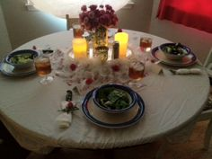 My Mother's Day table setting (by my daughter and partly my son)