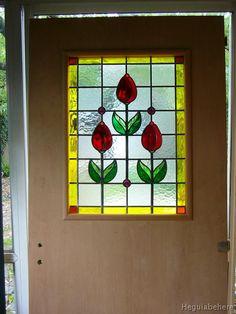 puerta vitral puer tulips puerta con vitraux motivo tulipanes y gemas.-  #vitraux  #vidrio   #glass-art  #vetrata-decorata