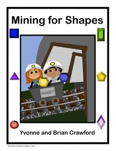 Free math craft - Mining for Shapes.