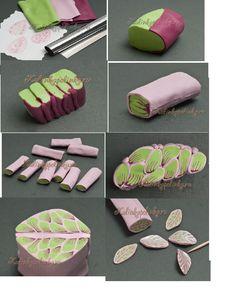 clay leaf, polymerclay, polymer leaf canes, polymer clay canes tutorials, polym clay, soap, fimo clay projects