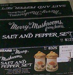 NEW IN BOX MERRY MUSHROOM SALT PEPPER SEARS