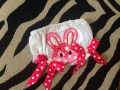 Easter bunny diaper cover, baby bloomer, embroidered diaper cover