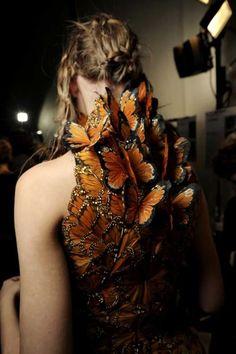 McQueen butterfly dress
