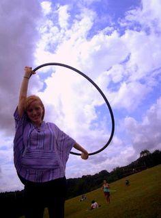 hula hooping!