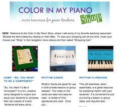 Home piano teaching