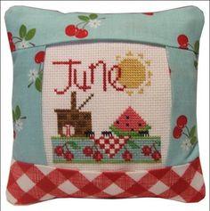 June 2011 Small Pillow Kit - Cross Stitch Kit