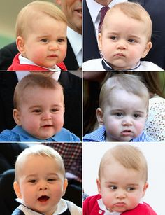 The many faces of Prince George!