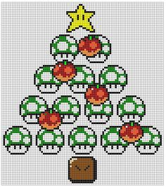Nintendo xmas xstitch pattern by ~NurseTab on deviantART