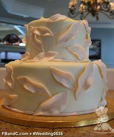leav decor, hand textur, wedding cakes, fondant leav