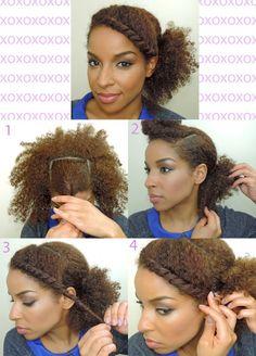 updo.  natural hair....
