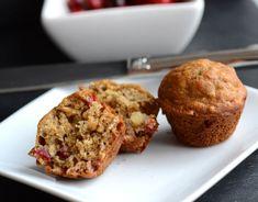 cranberry banana oat mini muffins