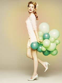 Dainty Diversion Mini #bhldn #dress #balloons #wedding #party #lace #shift
