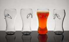 Ale Glass Set of 4 by PretentiousBeerGlass on Etsy, $125.00