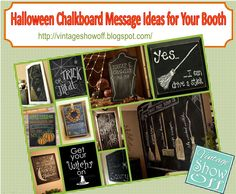 Chalkboard Message Ideas for Halloween and Fall