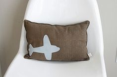 airplane pillow but in red n blue