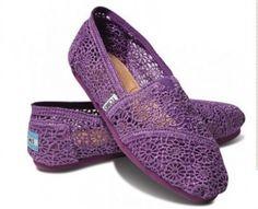 Purple crochet toms.... I really like these!!!