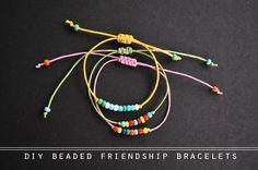 Hey Wanderer: the diy: beaded friendship bracelets