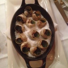12 Burgundy Snails at Le Biz in Paris - they were awesome