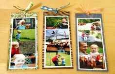 photo bookmarks - great gift Mother's Day