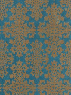 SHINE by S.H.O  Ikat Turquoise Hand-Tufted Rug