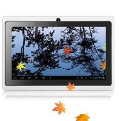 """iRulu 7"""" Google Android 4.03 OS 5-point Capacitive Multi-Touchscreen Widescreen 4GB Computer Internet Tablet PC (Allwinner A13 1.2 GHZ + GPU Mali 400 MP) 512MB DDR3 Flash Player 11.1 Dual Cameras With G Sensor, White"""
