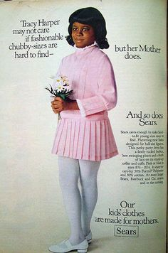 "VINTAGE AD FOR ""CHUBBY"" FASHIONS"