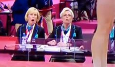 Judges faces after McKayla Maroney vaults. SHOULD HAVE BEEN A PERFECT SCORE!!!!